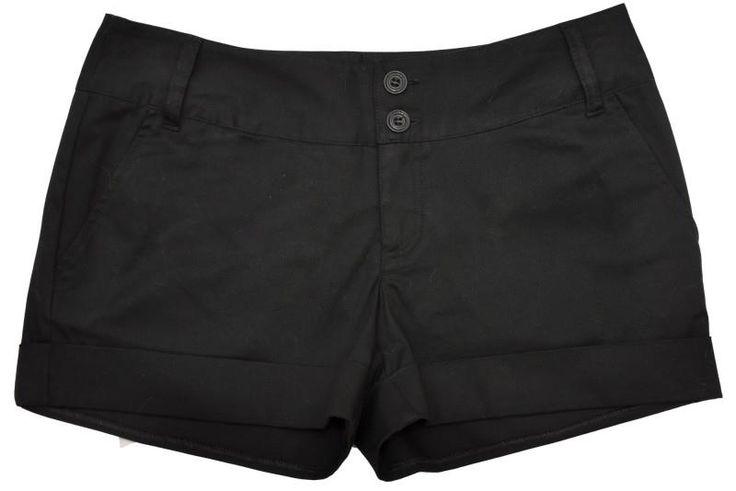 Черные мини шорты