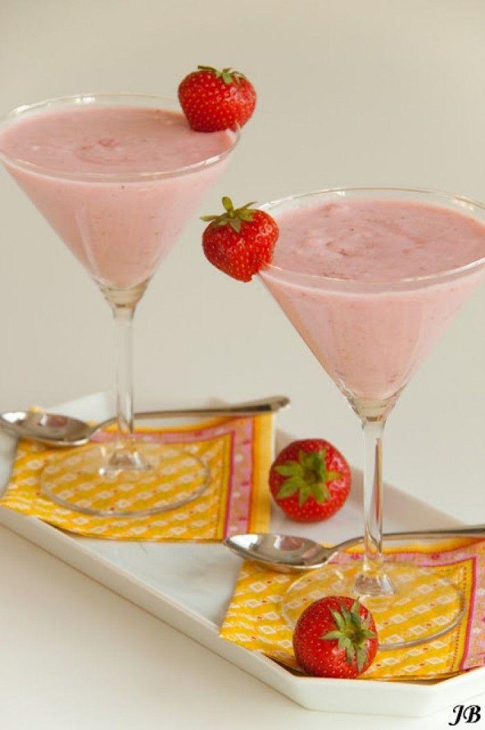 Aardbeien Marshmallow Mousse