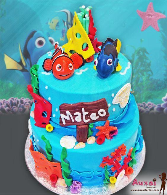 Tarta Buscando a Dory con Nemo