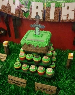 Minecraft Birthday Party Cake Ideas #BirthdayCakes http://ift.tt/2Ckzvl6