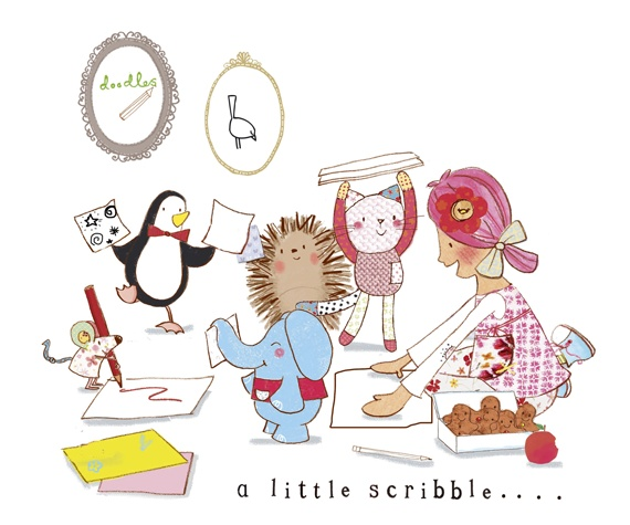 Do you know its National Doodle Day today?  Emily, Mousey and Bobble love to be creative. Do you like to doodle?