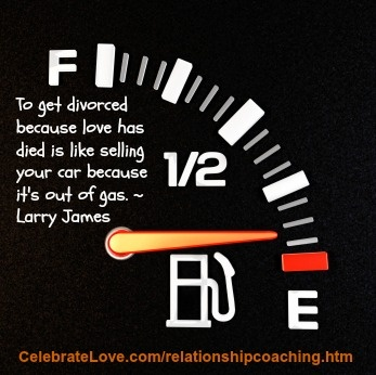 Relationship coaching can keep your relationship from running out of gas!
