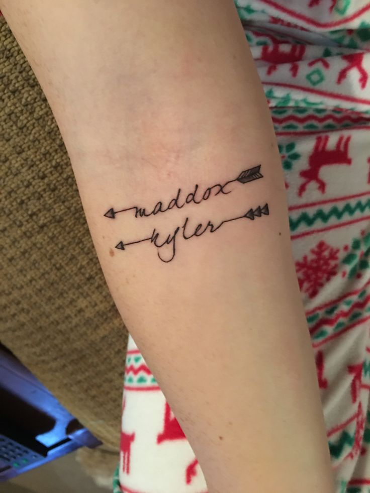 Best 25 tattoos with kids names ideas on pinterest for Name tattoos with color