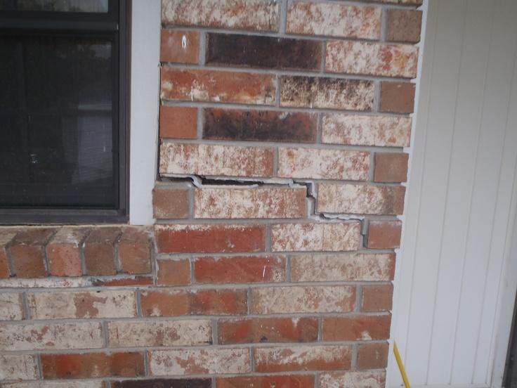 7 best repair cracks in brick walls images on pinterest for Brick veneer siding problems