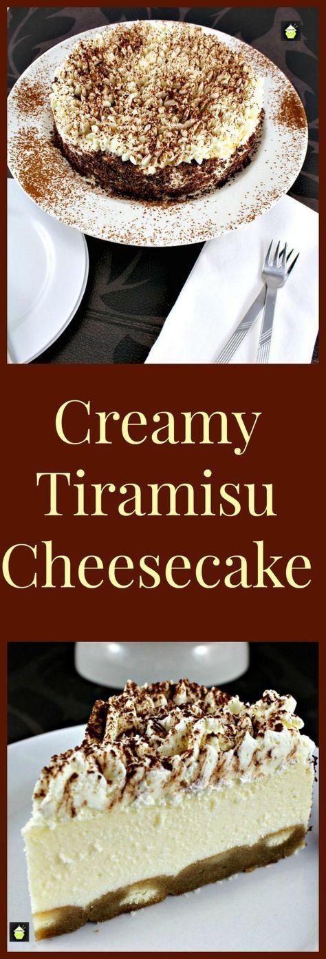 Creamy Tiramisu Cheesecake. This is a lovely dessert with the flavors of the classic Italian Tiramisu. If you like Tiramisu then you will enjoy this!