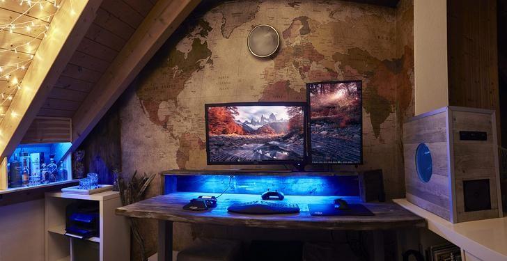 die besten 25 gamer zimmer ideen auf pinterest ps4 konsole videospielorganisation und. Black Bedroom Furniture Sets. Home Design Ideas