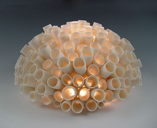 Tubes Wall Light by Lilach Lotan: Ceramic Wall Light available at www.artfulhome.com