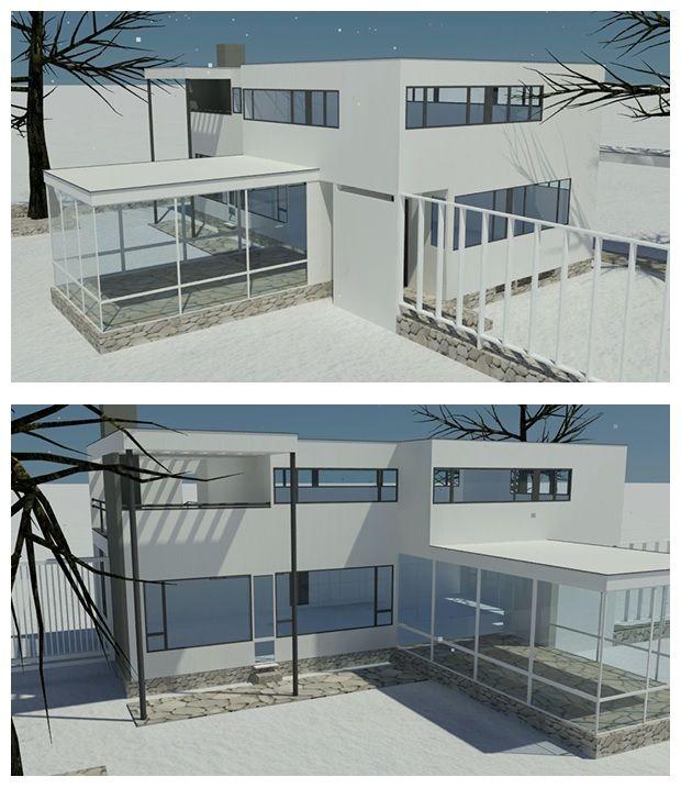 Gropius house sketchup model