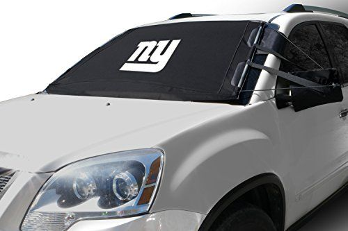 NFL FrostGuard: Winter Snow, Ice and Frost Windshield Cover - New York Giants - Standard Size. For product info go to:  https://www.caraccessoriesonlinemarket.com/nfl-frostguard-winter-snow-ice-and-frost-windshield-cover-new-york-giants-standard-size/