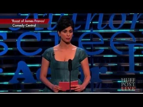 Sarah Silverman's Exchange With Jonah Hill At James Franco Roast - the interview after is FANTASTIC!! Her point that we live in a society that doesn't say 'that's not my cup of tea, anymore. we say that shouldn't be for anyone! and try to ban it'!! Dead on! LOVE IT!