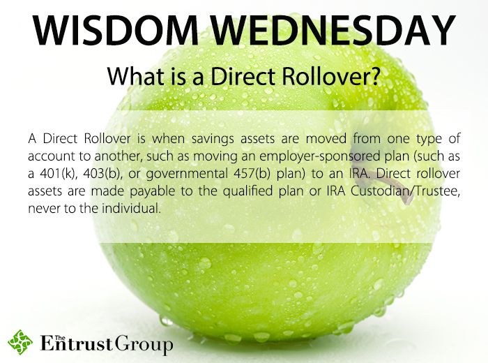 Do you know when to use a direct rollover to move assets to your individual retirement account?