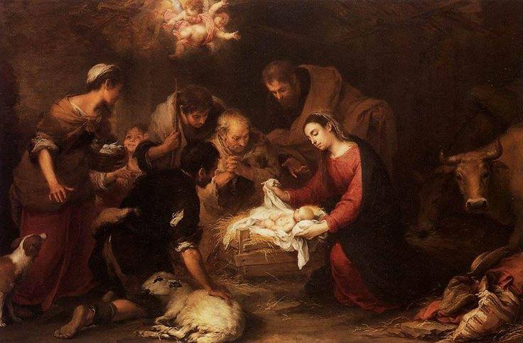Angyalok húznak a világ fölött. Hírét hozzák, hogy földre szállt a béke! Megszületett az Igazság, a Jóság, akit úgy vártunk: megszületett végre!   Wass Albert   Bartolomé Esteban Murillo (1617-1682): Adoration of the Shepherds (c.1668)
