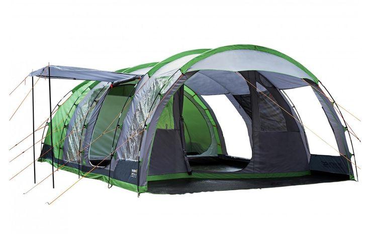 Regatta 6 Man Vanern Outdoor Family Tunell Tent Green