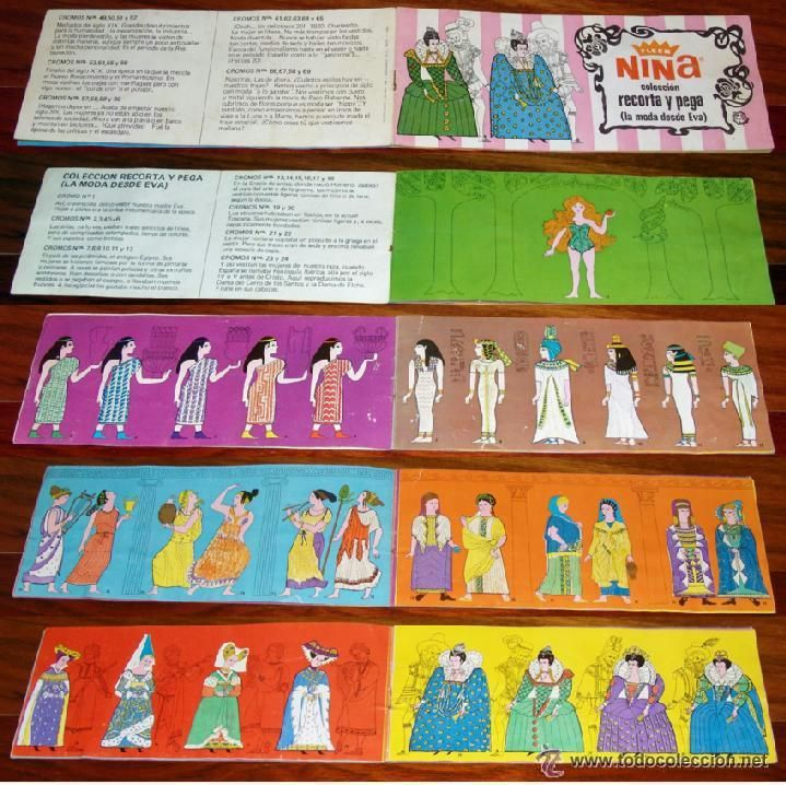 Album 1968 Buen estado Chicles Fleer Nina. La Moda desde Eva. Completo. Ruiz Romero - Foto 2