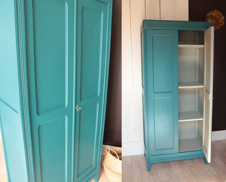 armoire parisienne chambre enfant vintage bleue années 50 TRENDY LITTLE 7jpg