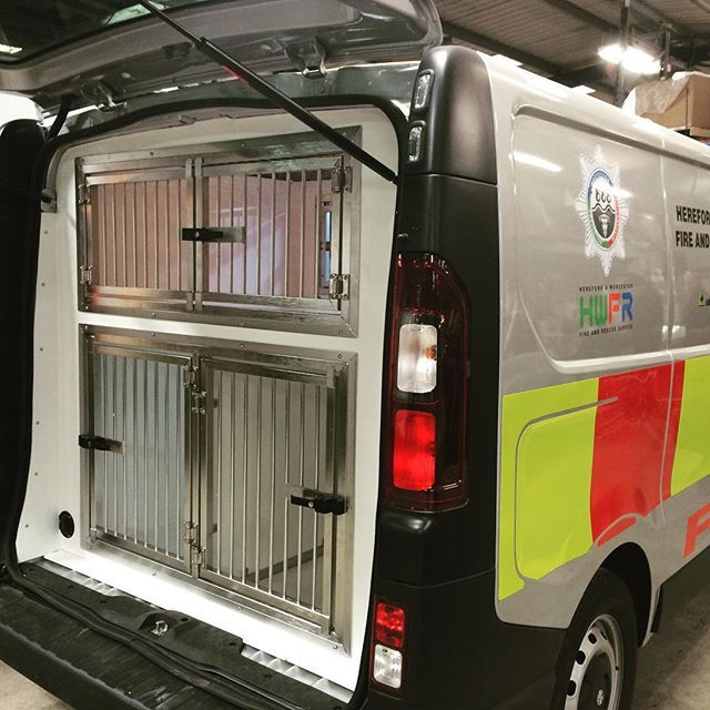 Vauxhall Vivaro Dog Van Conversion Custom Made To Meet The Requirements Of A Search And Rescue