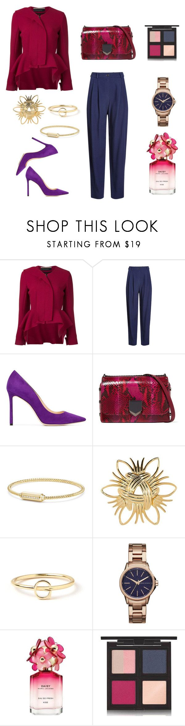 """""""Untitled #797"""" by mary-en ❤ liked on Polyvore featuring Roland Mouret, HUGO, Jimmy Choo, David Yurman, Kenneth Jay Lane, Maya Brenner Designs, Armani Exchange, Marc Jacobs, The Body Shop and ladylike"""