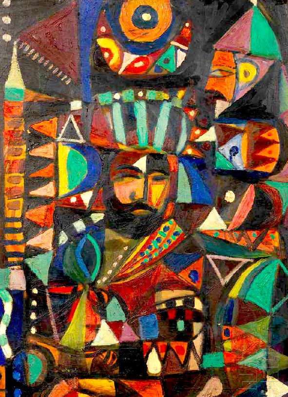 Harun Al-Rashid, painting by Shakir Hasan Al-Said, Baghdad, 1950s هارون الرشيد، لوحة برسم شاكر حسن السعيد، بغداد، الخمسينات