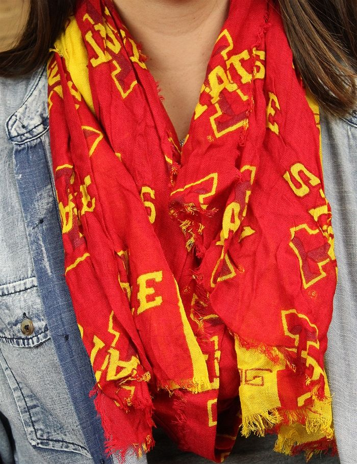 Check out the fashion game day scarf You are sure to stand out in a crowd at a…