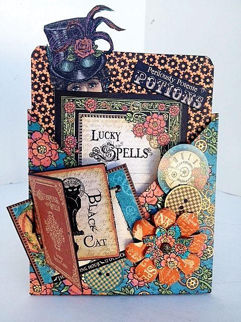Steampunk Spells Card Ideas from @Diane Schultz own workshop! #graphic45