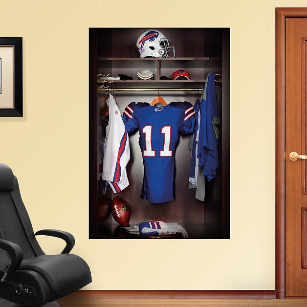 Buffalo Bills Locker Mural - Buffalo Bills - NFL put this in closet of man cave