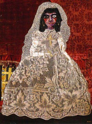 La comunión de Ramona, 1962: Obra de Antonio Berni,