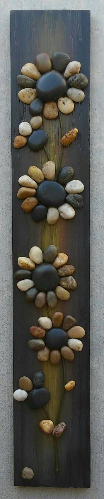 Pebble Art Rock Art Pebble Art Flowers Rock Art di CrawfordBunch