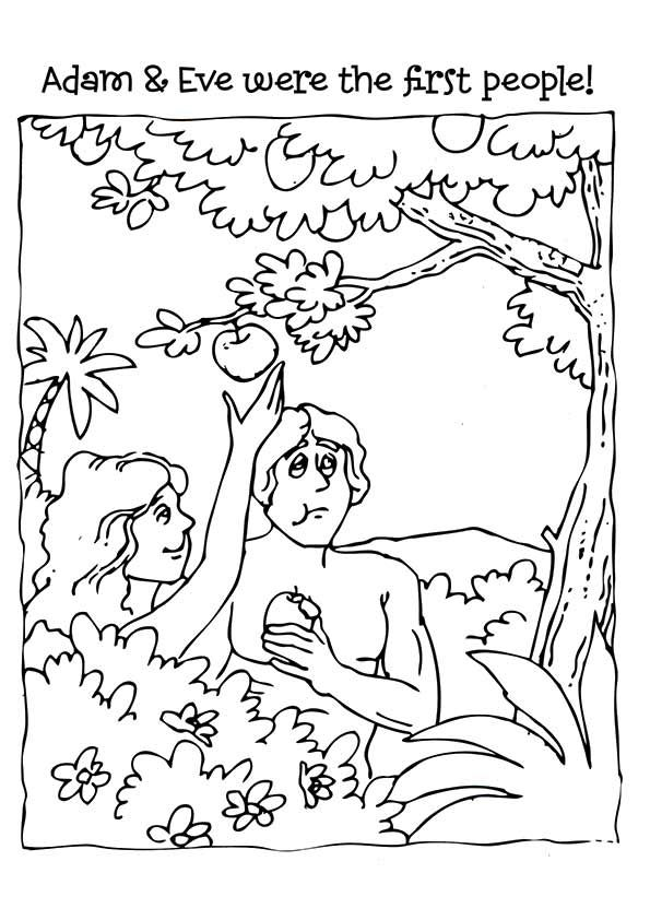 40++ Adam and eve coloring page lds HD