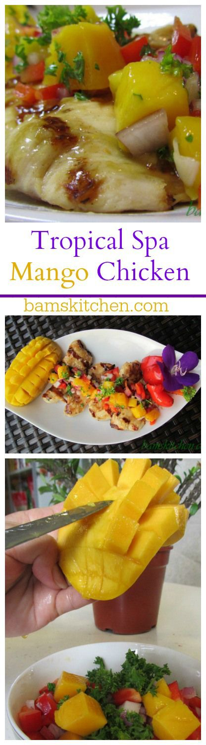 Tropical Spa Mango Chicken / http://bamskitchen.com