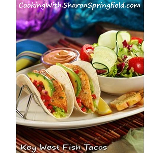 Fish Tacos - Key West copycat recipe.  These are the best!    I wish I'd tried these sooner.  The sauce for these is the bomb!
