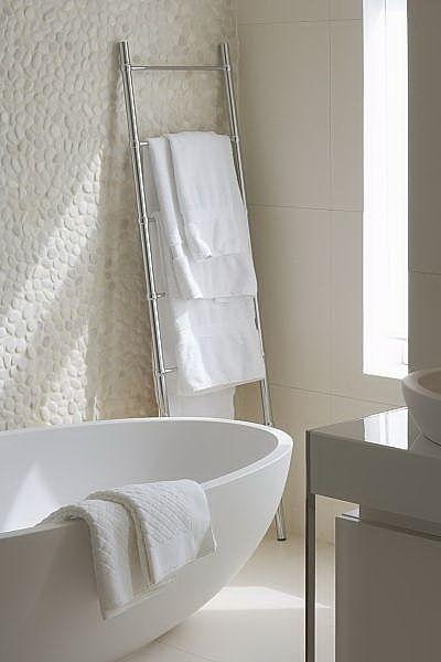 Bathroom |  Minimal Bath | Pebble Wall | Zen Bath