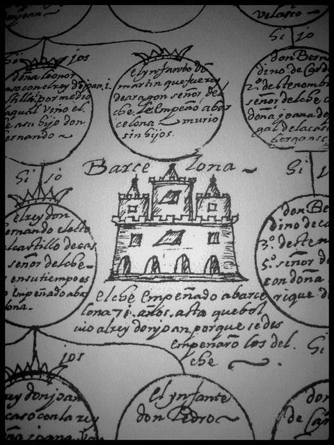 Árbol genealógico de la Señoría. Año 1265. Alcázar de la Señoría. Elche. 27/12/2013