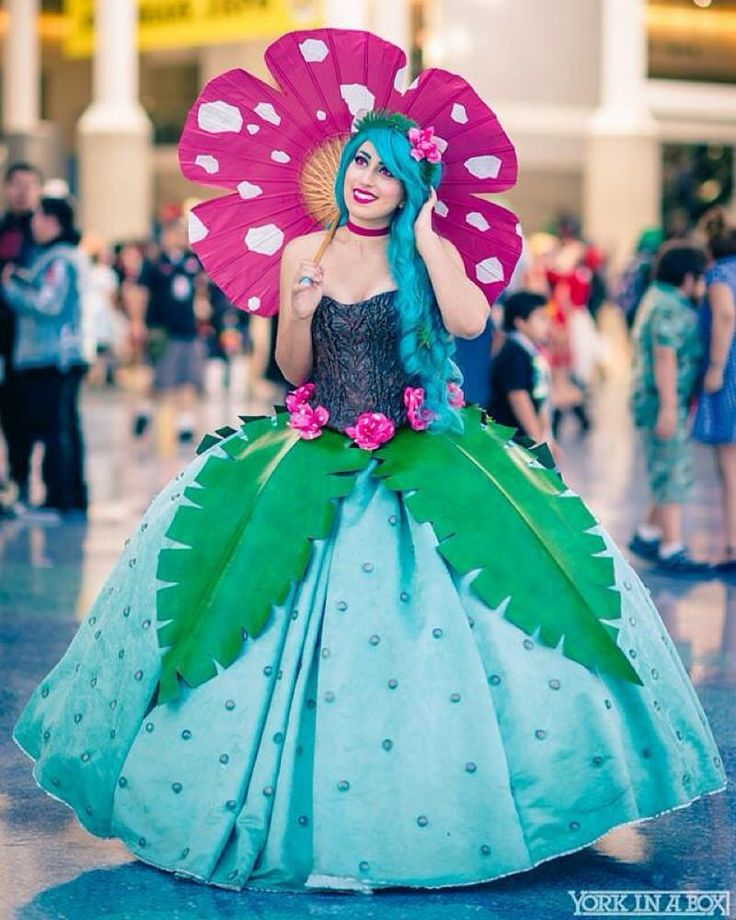 Venusaur Cosplay by @elizabethrage  Photo by @yorkinabox  #cosplay #pokemon… - COSPLAY IS BAEEE!!! Tap the pin now to grab yourself some BAE Cosplay leggings and shirts! From super hero fitness leggings, super hero fitness shirts, and so much more that wil make you say YASSS!