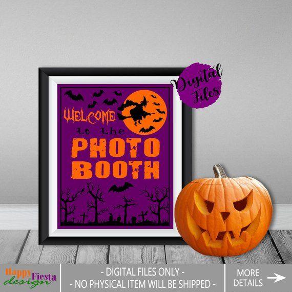 Printable Halloween Photo Booth Sign Halloween Sign Halloween