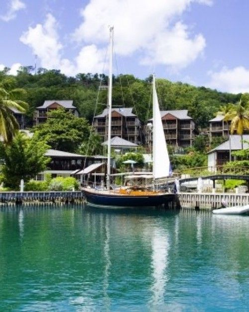 Capella Marigot Bay, St. Lucia (Castries, St. Lucia) - #Jetsetter,  The hillside lodges overlook the bay and marina.