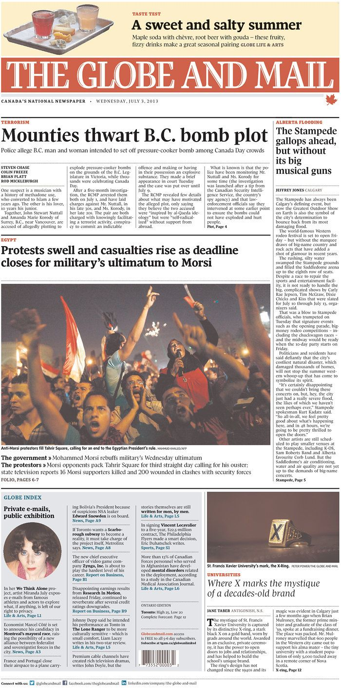 The Globe and Mail, published in Toronto, Canada