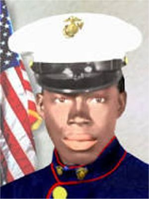 Marine Medals   PFC Ralph Henry Johnson (1949-1968) USMC. Medal of Honor (posthumously) for conspicuous gallantry and intrepidity at the risk of his life above and beyond the call of duty, on 5 March 1968, in action against the North Vietnamese Army and Viet Cong Forces on Hill 146, near Quan Duc Valley, Republic of Vietnam. ...he shouted a warning and unhesitatingly hurled himself upon the explosive device. He gallantly gave his life for his country.