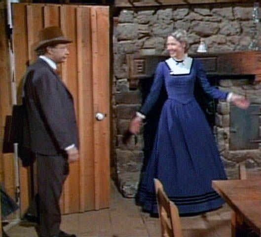 Caroline ingalls blue victorian dress victorian dresses for Laura ingalls wilder wedding dress