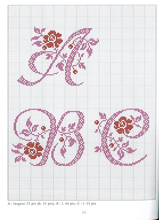 Gallery.ru / Фото #102 - belles lettres au point de croix - moimeme1
