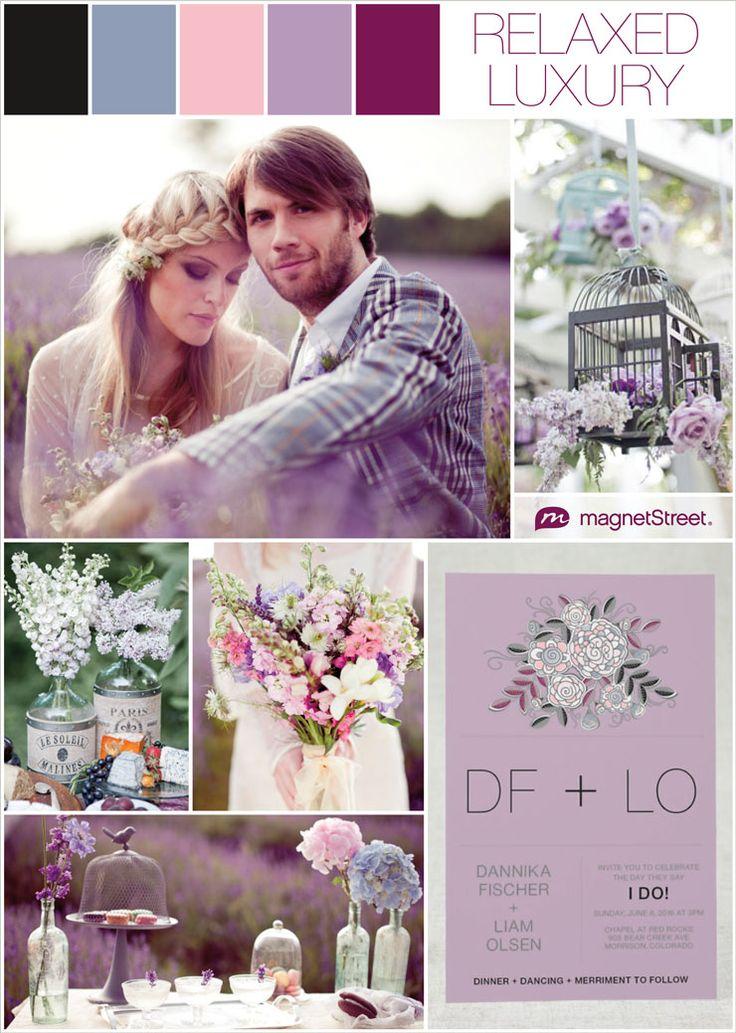 Lavender Wedding ideas + lavender wedding invitation sample from MagnetStreet
