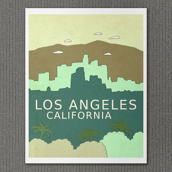 LA City Wall Art Skyline Children Decor // Los von LisaBarbero