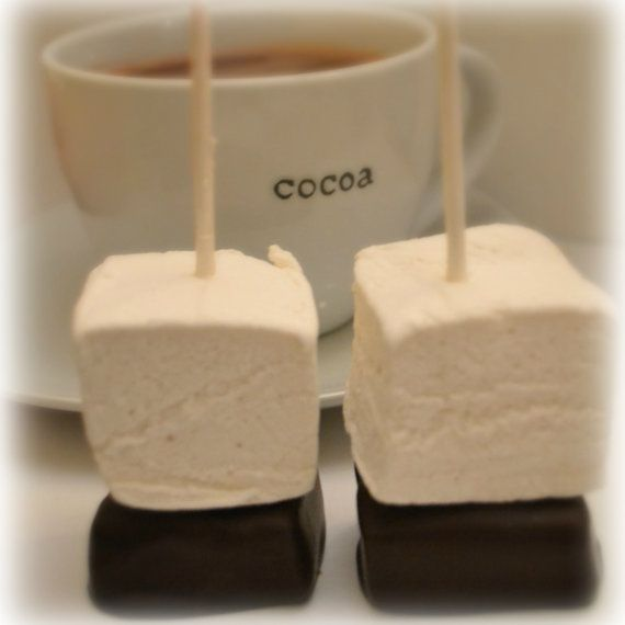 Gourmet Hot Chocolate and Marshmallow Pops by SugarPlumFairySweets, $15.00 i can do a DIY version
