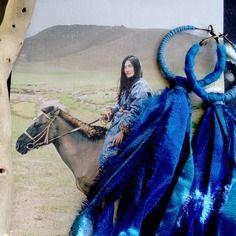 Boucles d'oreilles escale mongole - монгол escale... (bleu céruléen, azur)