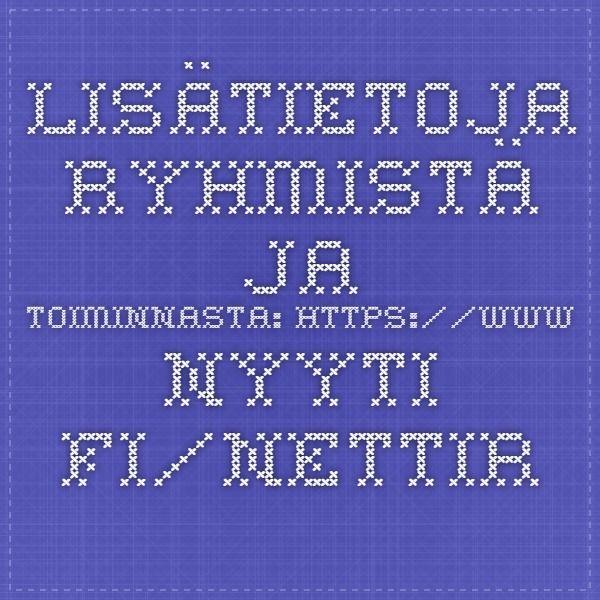 Lisätietoja ryhmistä ja toiminnasta: www.nyyti.fi