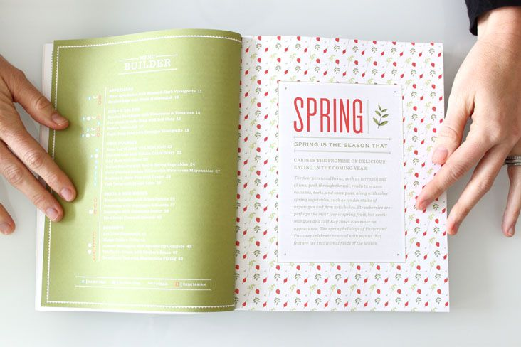 cooking in season book by stitch design co.