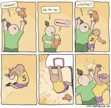Alley oop  http://frikinianos.es/juego-de-eqipo/  #humor #funny #tiracomica #chistes #frikada #risas #Alleyoop