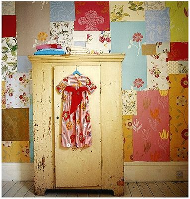 Patchwork wallpaperChild Room, Vintage Wallpapers, Girls Bedrooms, Kids Room, Girls Room, Baby Room, Wall Design, Fleas Marketing Style, Accent Wall