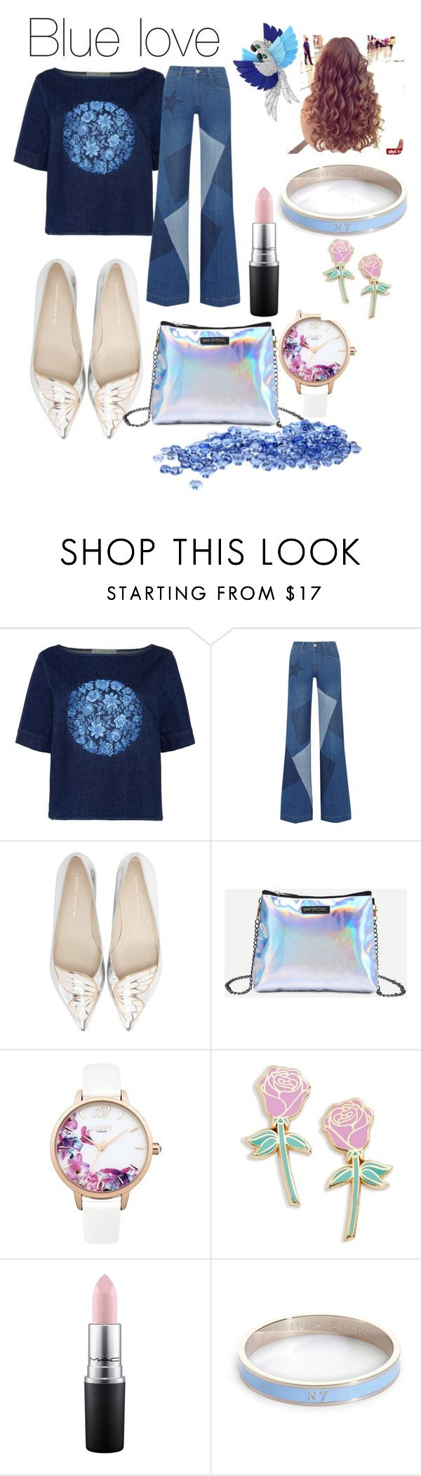 """Mavi aşk 🐟💎"" by cutelifelove ❤ liked on Polyvore featuring STELLA McCARTNEY, Sophia Webster, Lipsy, Big Bud Press, MAC Cosmetics, Whistle & Bango and Arca"