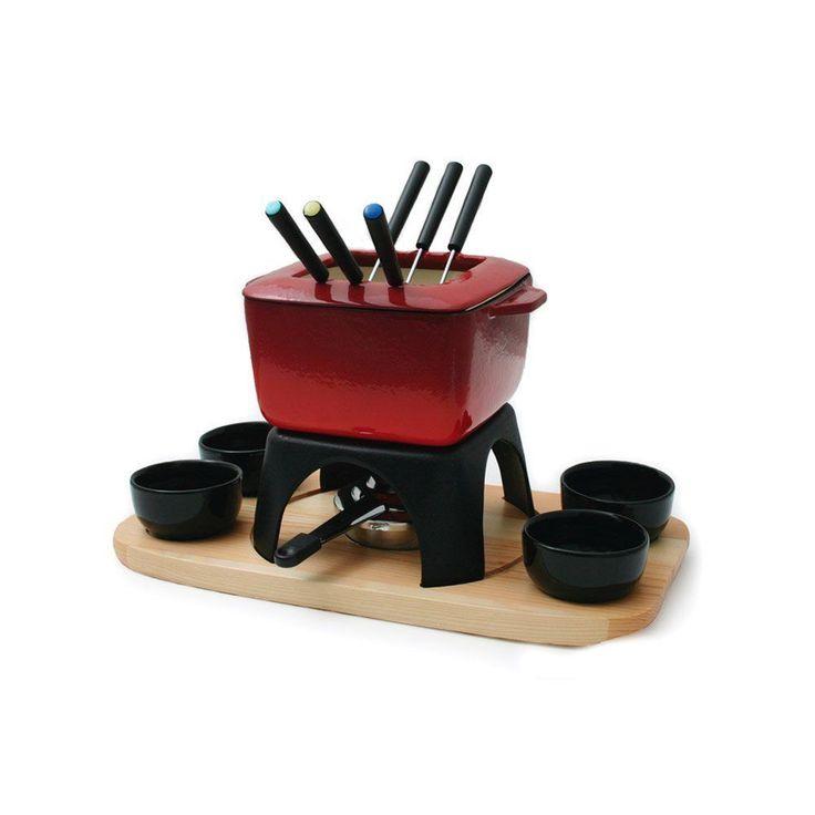 Fondue Sets 66749: Swissmar Mont Blanc 15 Piece Cast Iron Meat Fondue Set, Red -> BUY IT NOW ONLY: $59.95 on eBay!