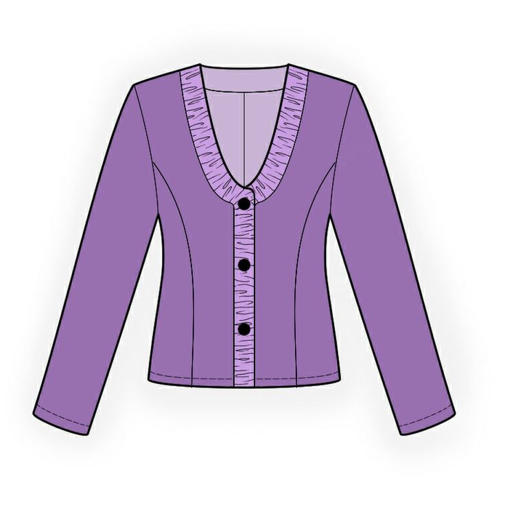 Jacket - Sewing Pattern #4122. Made-to-measure sewing pattern from Lekala with free online download.